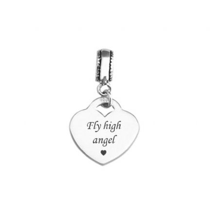 Memorial Charm, Fly High Angel, Sterling Silver